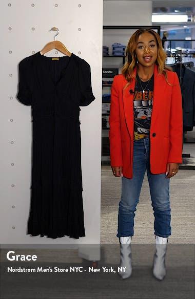 Jaclyn Plissè Satin Midi Dress, sales video thumbnail