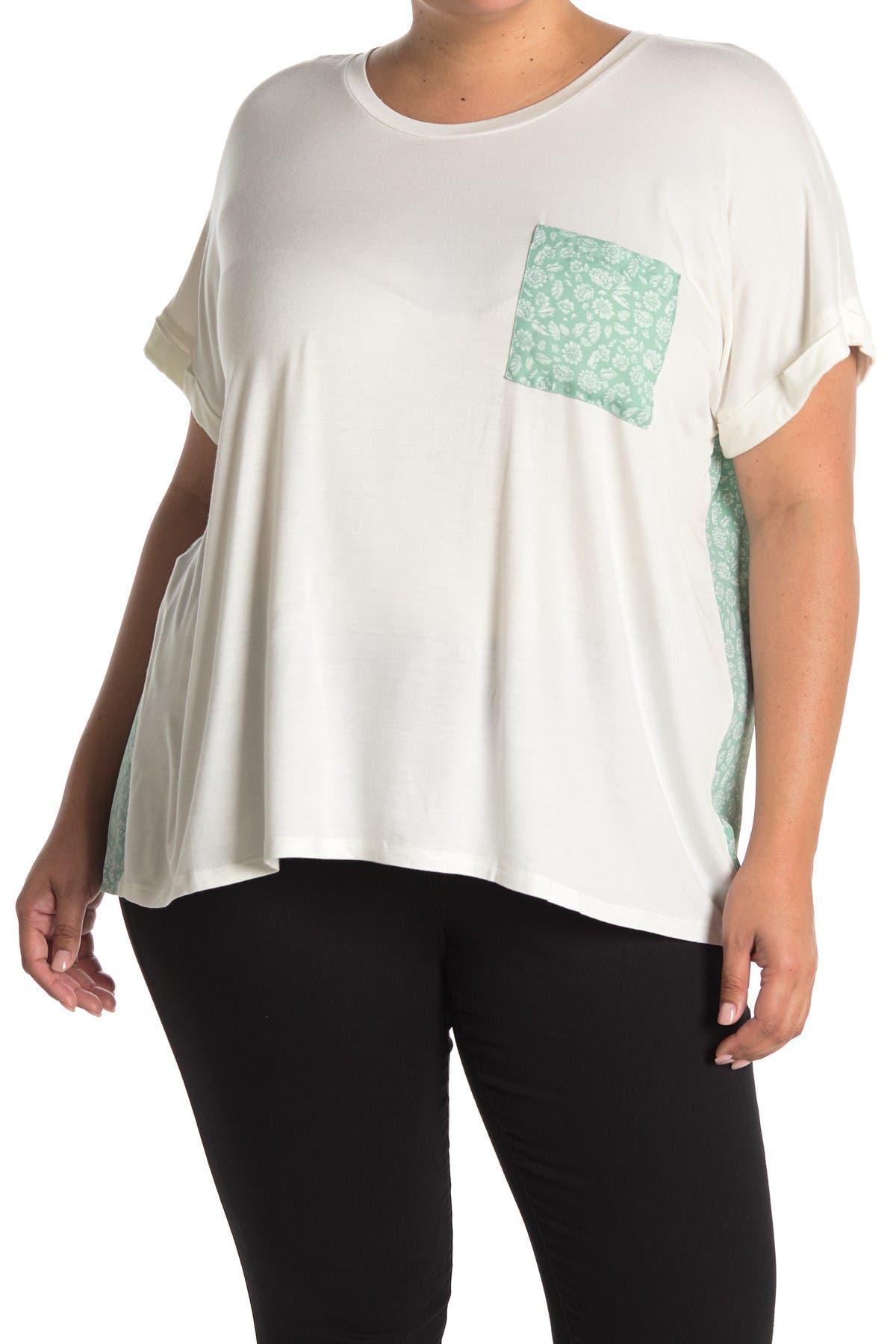 Image of Bobeau Mixed Media Short Sleeve Pocket T-Shirt
