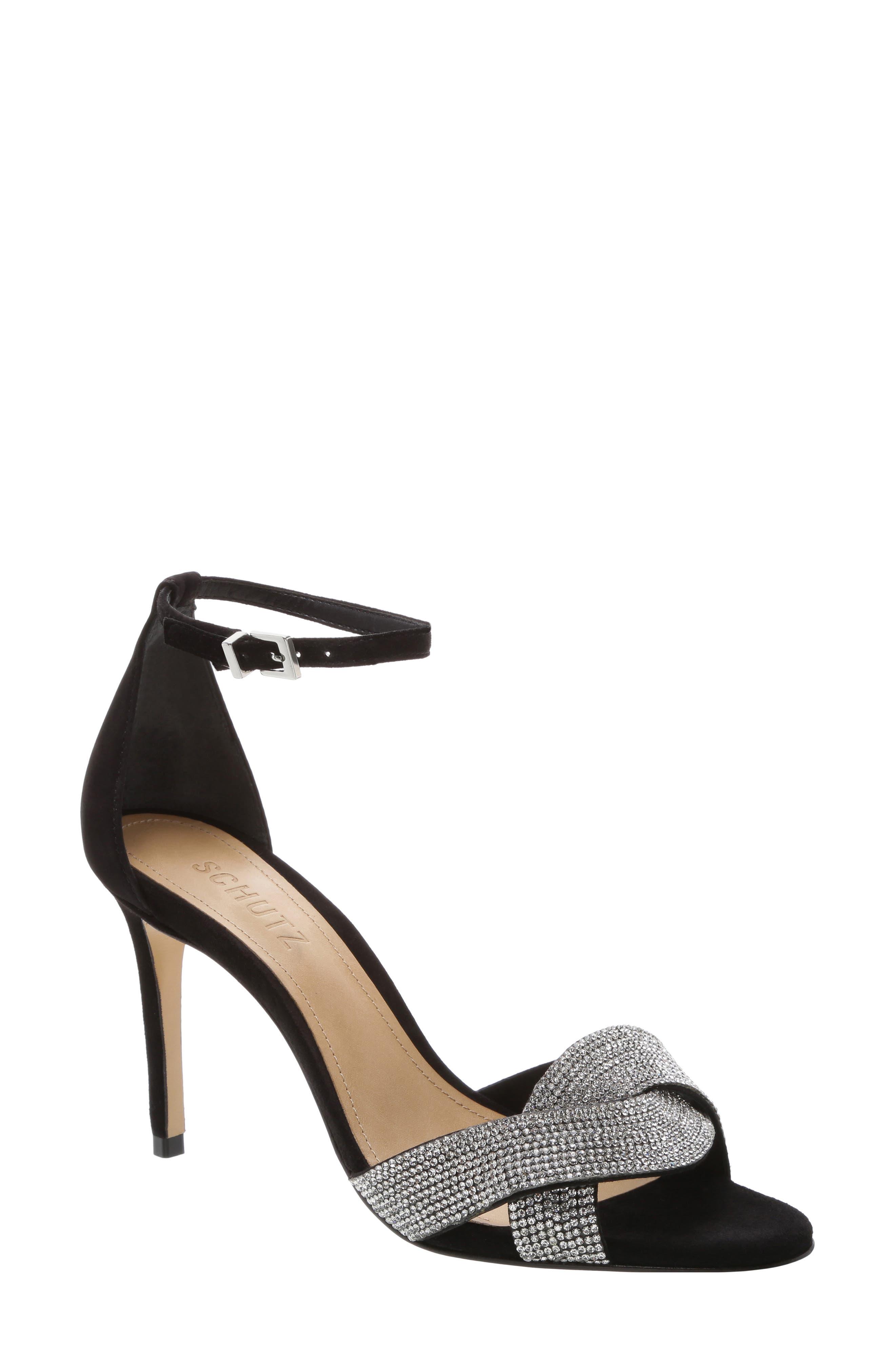 Schutz Jolita Ankle Strap Sandal, Black