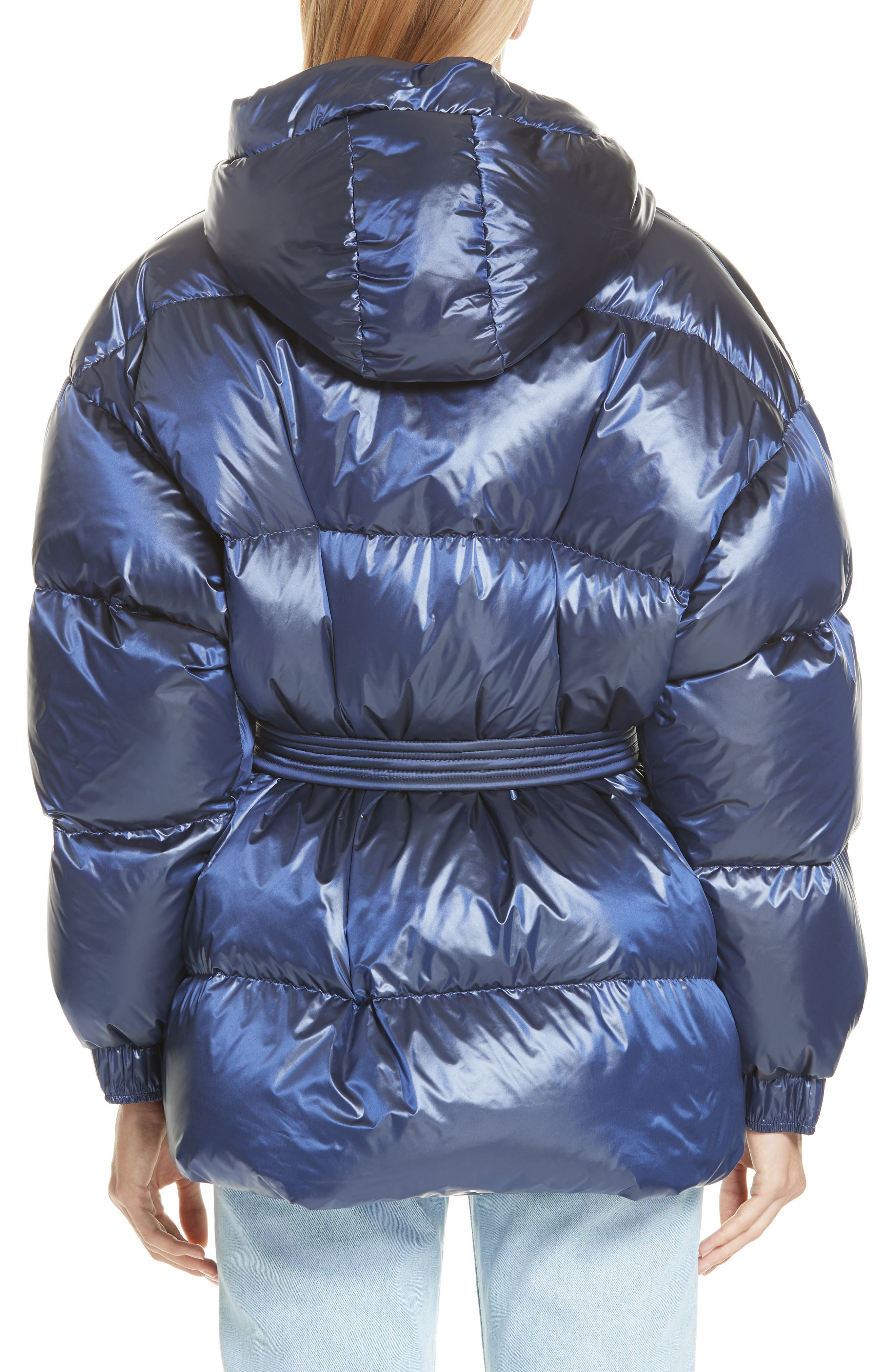 ,                             Michelin Hooded Down Puffer Coat,                             Alternate thumbnail 9, color,                             401