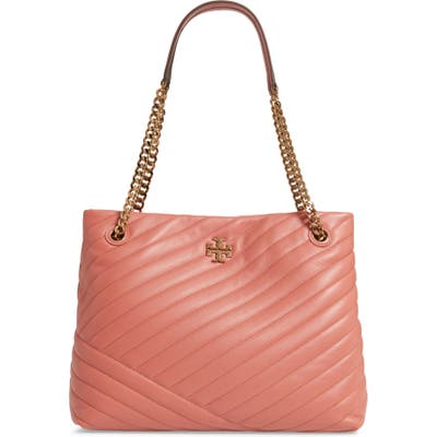 Tory Burch Kira Chevron Quilted Leather Tote - Pink