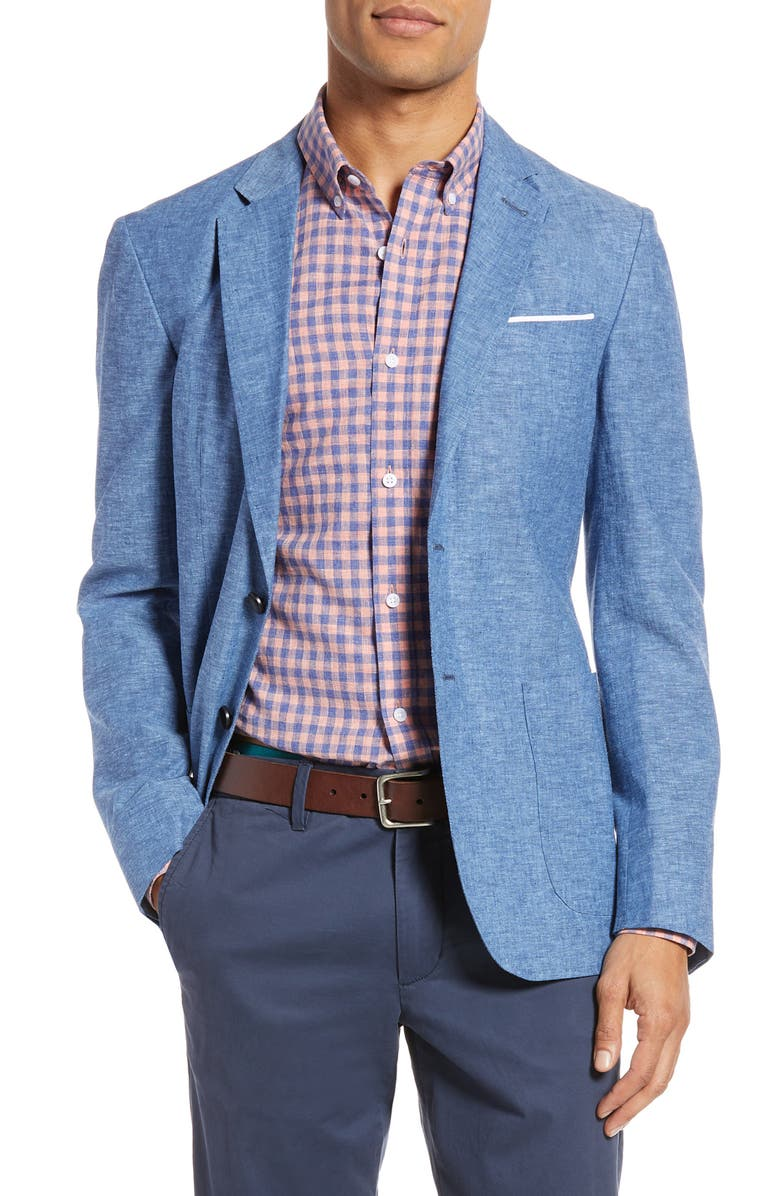 1901 Extra Trim Fit Chambray Sport Coat, Main, color, 401