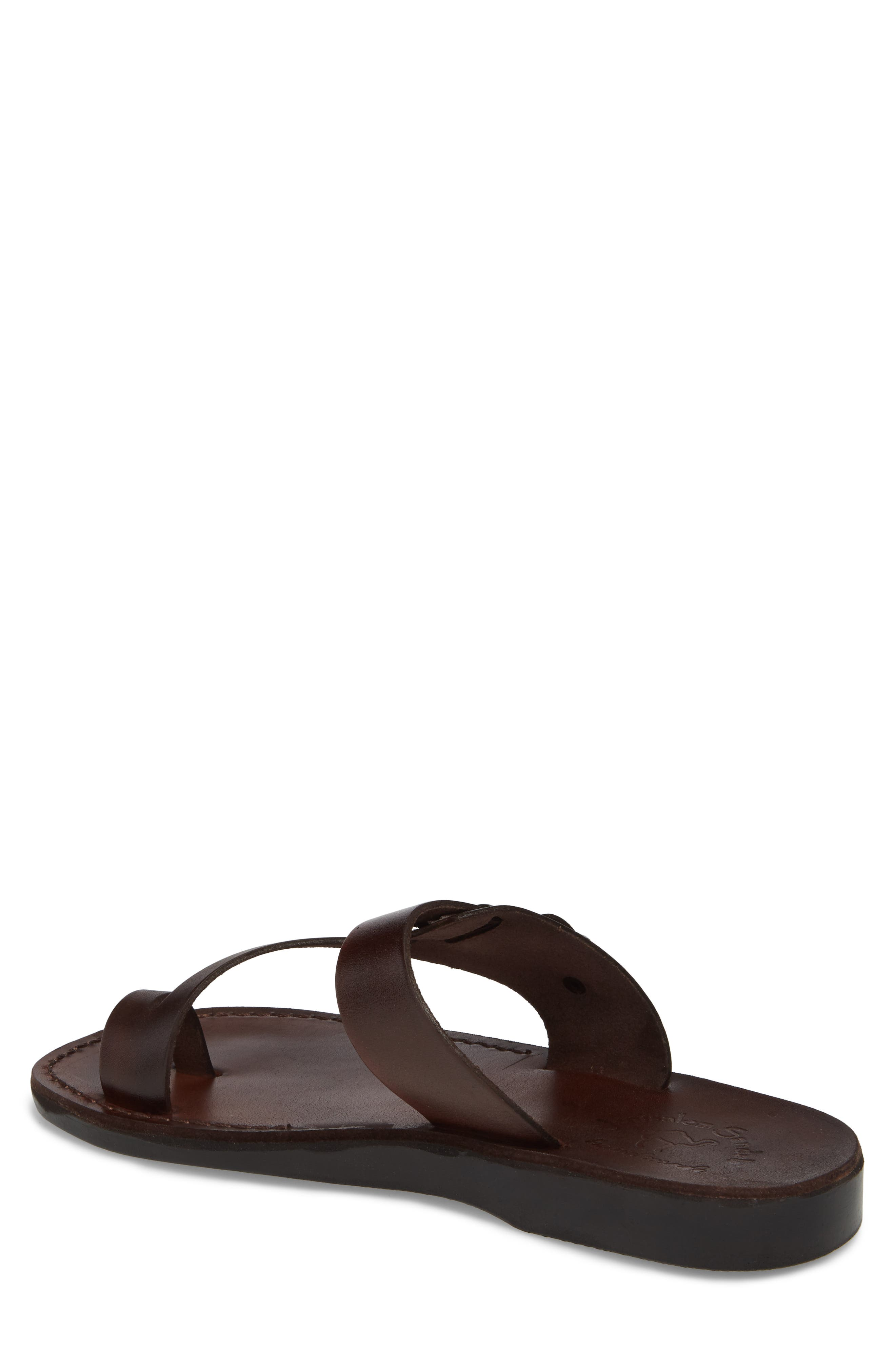 ,                             Abner Toe Loop Sandal,                             Alternate thumbnail 2, color,                             BROWN LEATHER