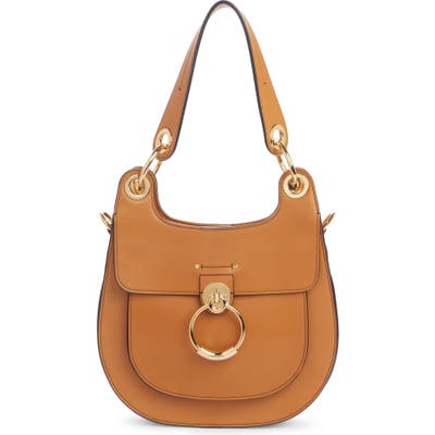 Chloe Medium Tess Calfskin Leather Hobo Bag - Brown