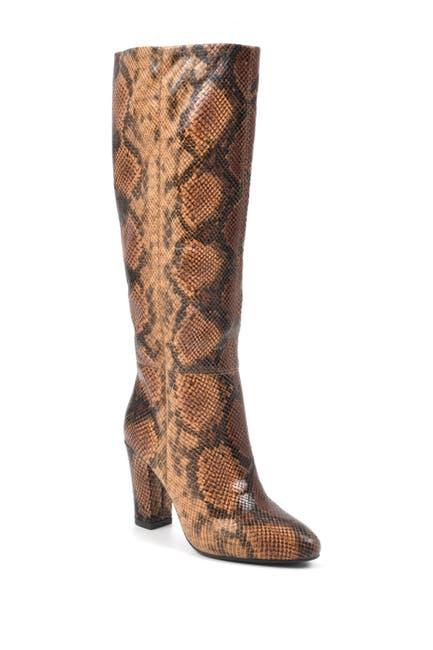 Image of White Mountain Footwear Cosmic Snake Embossed Block Heel Tall Boot