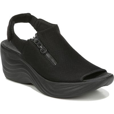 Bzees Zipline Wedge Sandal- Black