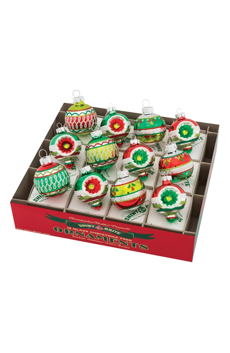 CHRISTOPHER RADKO Holiday Splendor Set of 12 Ornaments, Main, color, MULTI