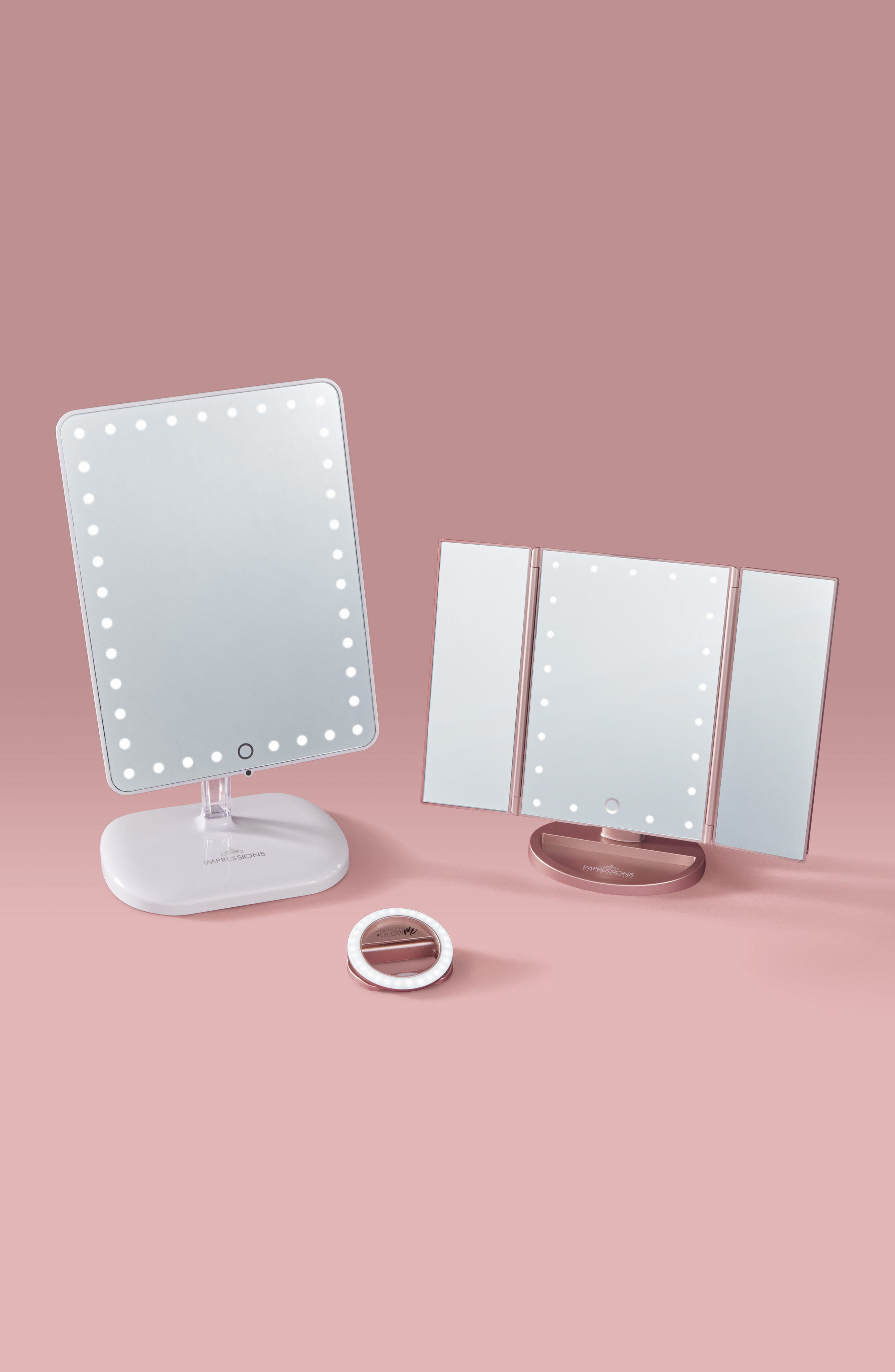 ,                             Bling Touch Pro LED Makeup Mirror with Bluetooth<sup>®</sup> Audio & Speakerphone,                             Alternate thumbnail 3, color,                             100