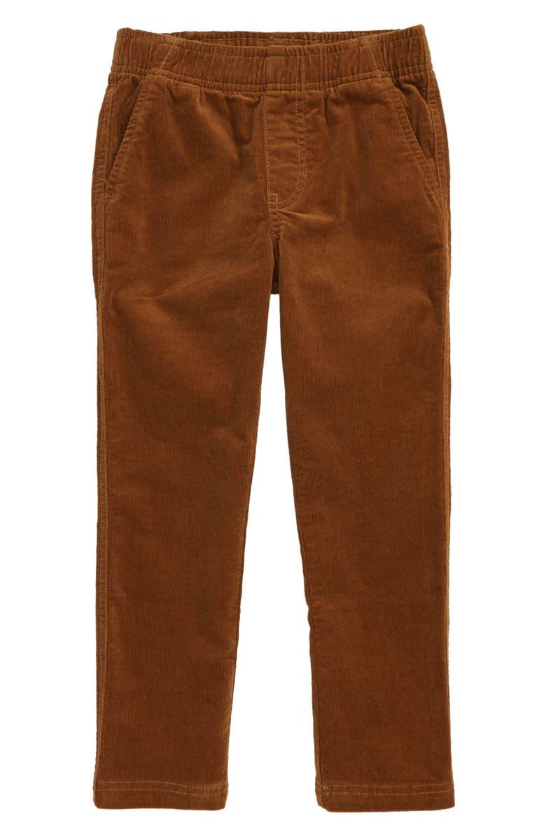 TEA COLLECTION Slim Fit Corduroy Pants, Main, color, BRONZE