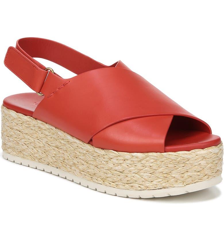 VINCE Jesson Espadrille Slingback Sandal, Main, color, ADOBE RED