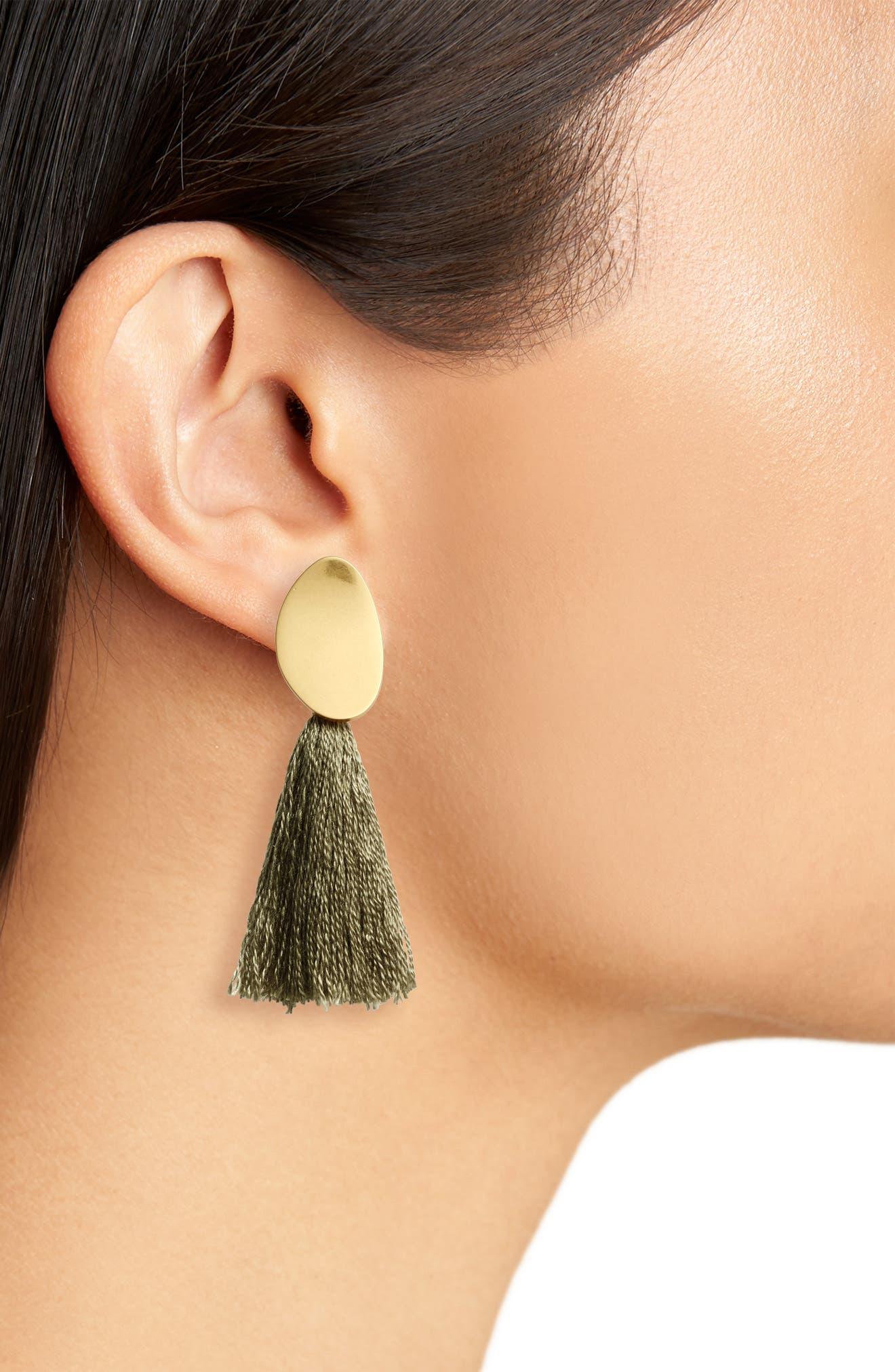 ,                             Curved Tassel Earrings,                             Alternate thumbnail 8, color,                             300