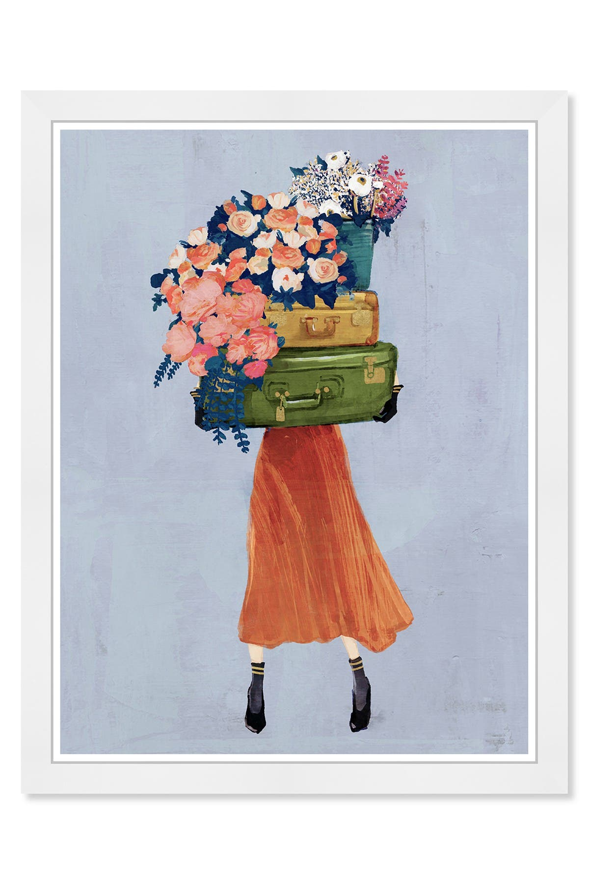 Wynwood Studio The Case of Fall Bouquet Gray Framed Wall Art at Nordstrom Rack