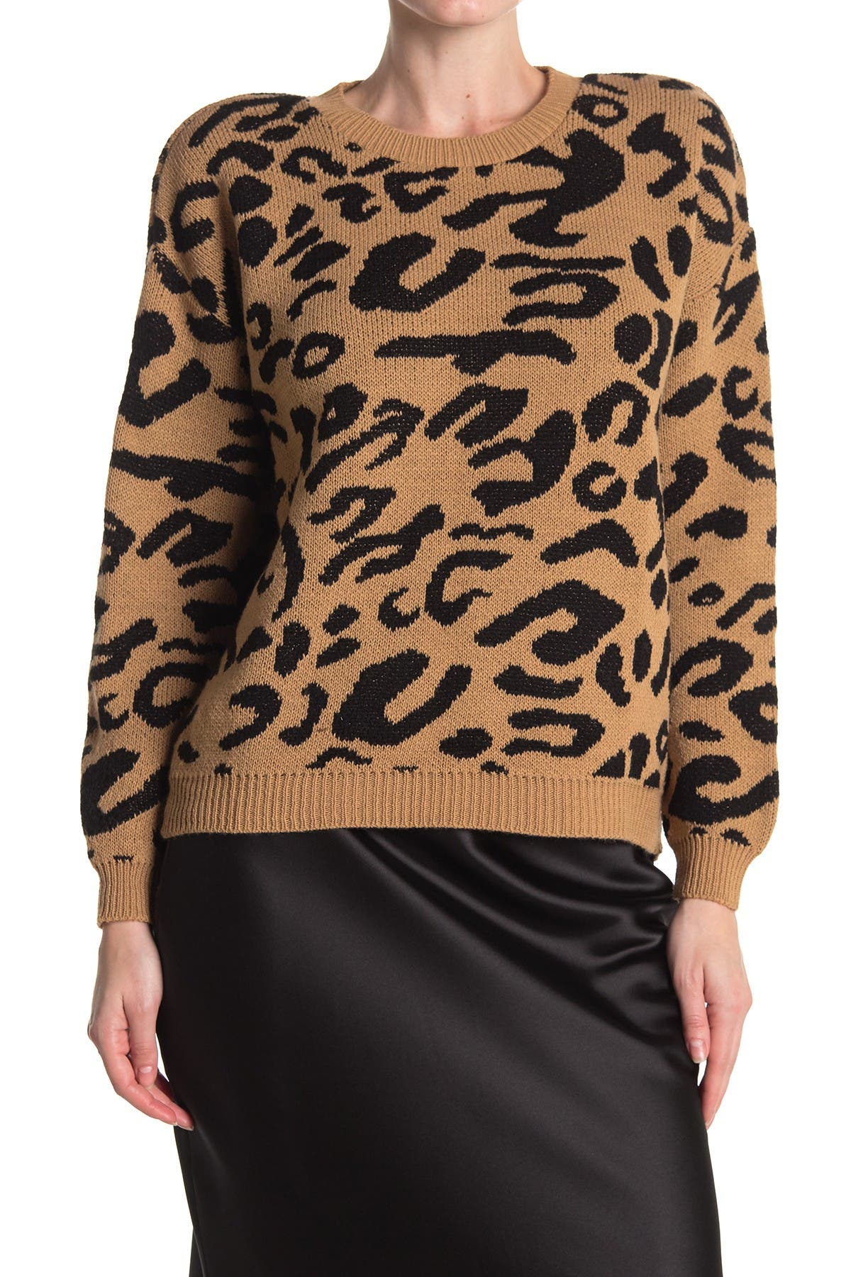 Image of Cotton Emporium Leopard Pullover