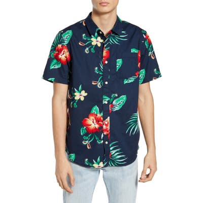 Vans Trap Floral Short Sleeve Button-Up Shirt, Black
