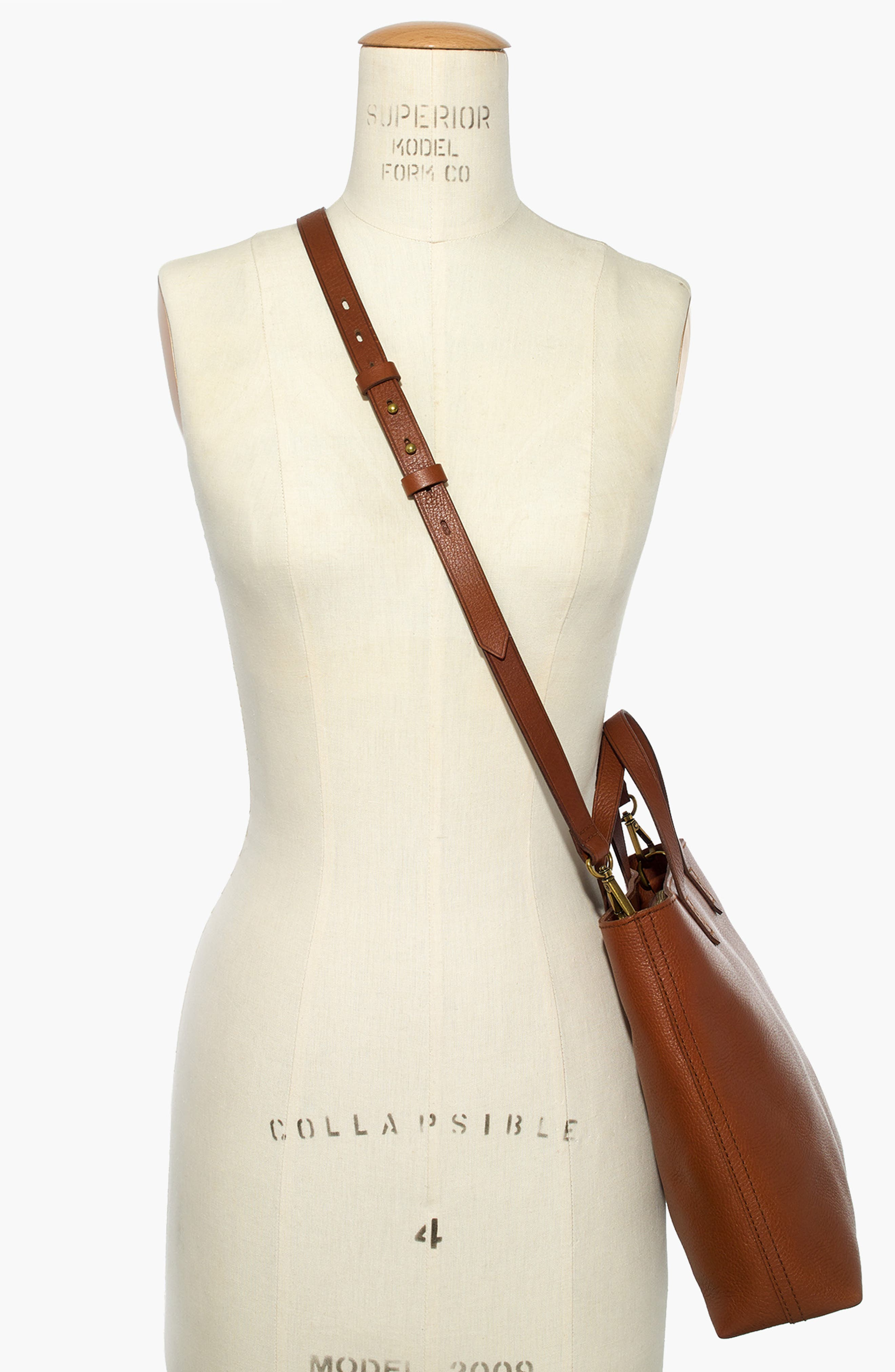 ,                             Small Transport Leather Crossbody Tote,                             Alternate thumbnail 4, color,                             200