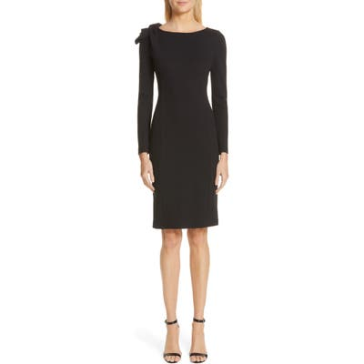 Emporio Armani Long Sleeve Jersey Sheath Dress, US / 46 IT - Black