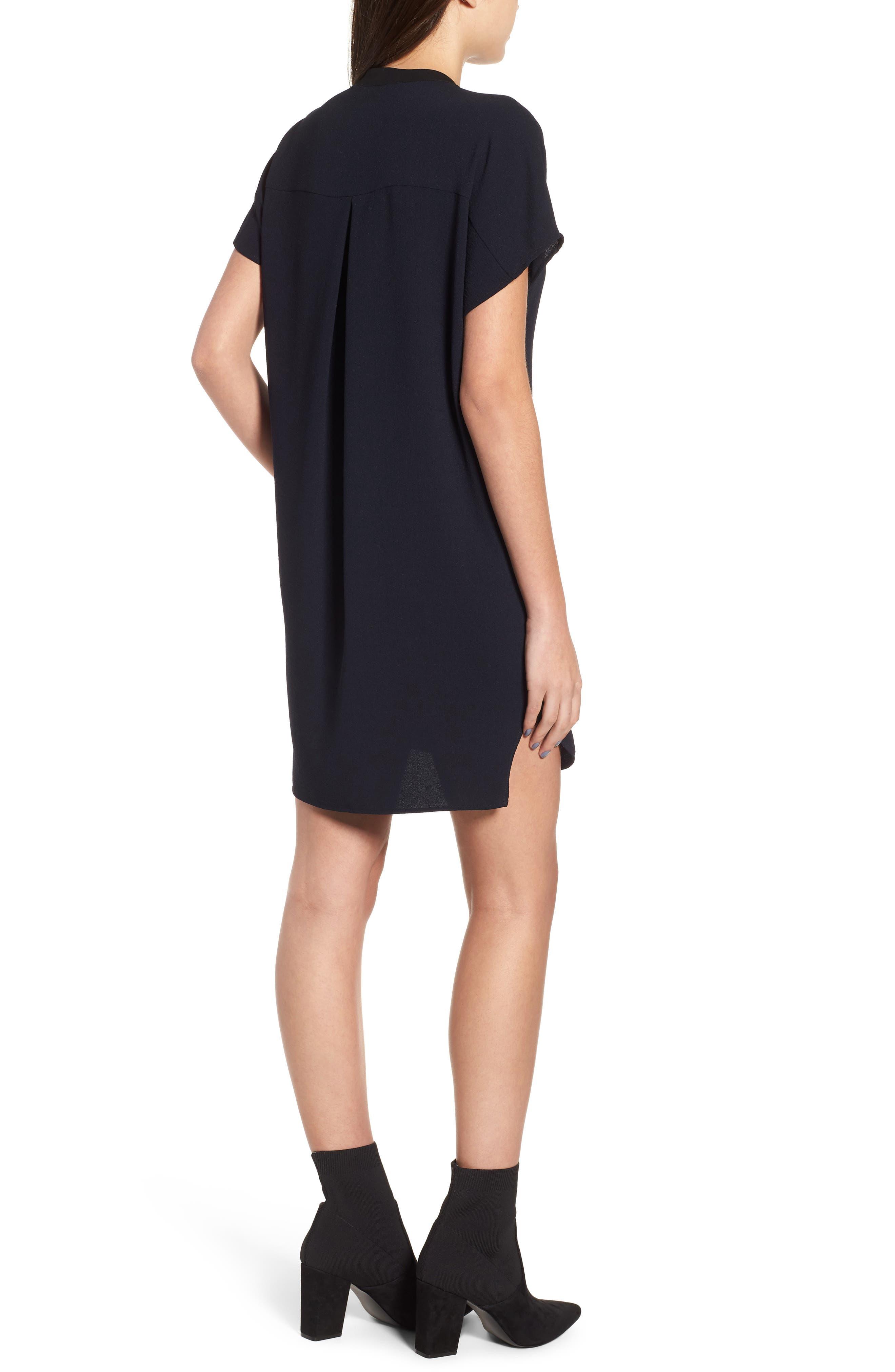 ,                             ASTR V-Neck Crepe Shift Dress,                             Alternate thumbnail 2, color,                             400