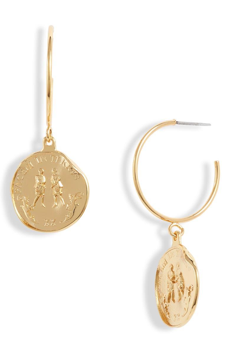 JONESY WOOD Fausta Drop Earrings, Main, color, GOLD