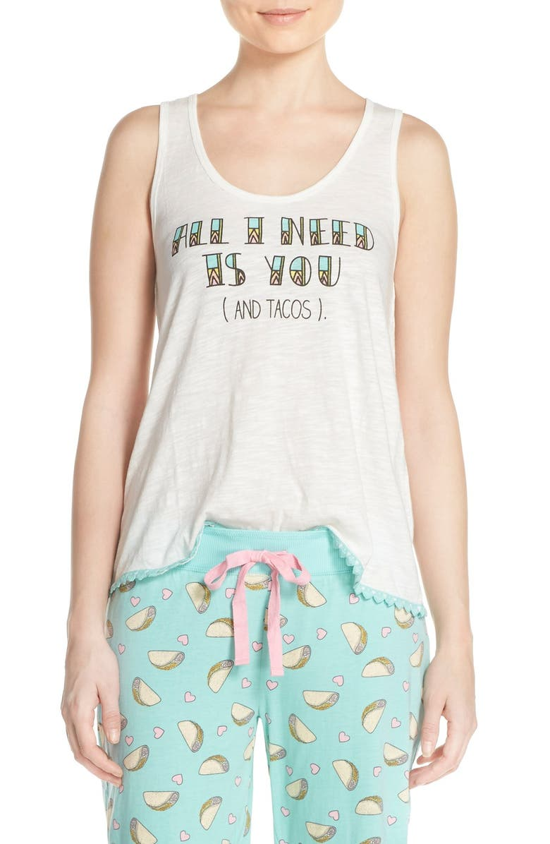 COZY ZOE 'All I Need Is You' Graphic Racerback Tank, Main, color, 900