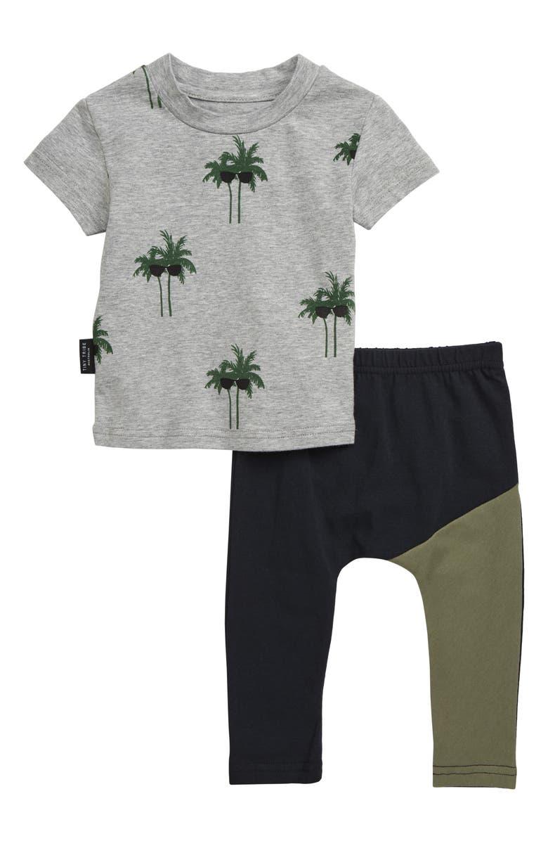 TINY TRIBE Palm Tree T Shirt Leggings Set Baby