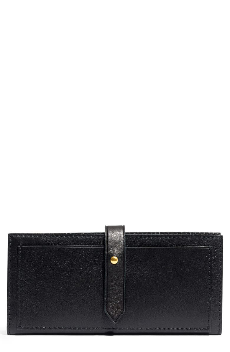 MADEWELL New Post Leather Wallet, Main, color, 001