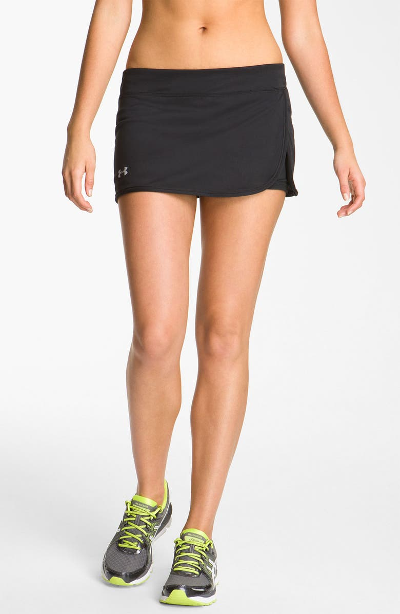 UNDER ARMOUR 'Escape' Knit Skort, Main, color, 001
