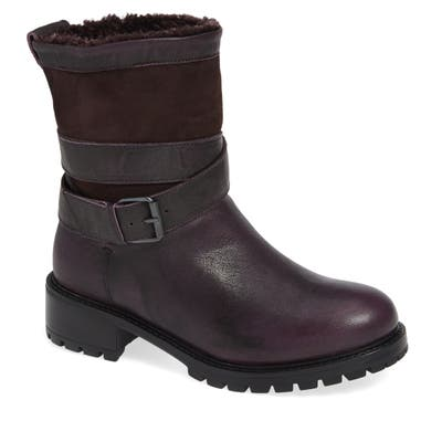 Ross & Snow Emilina Genuine Shearling Lined Weatherproof Bootie, Purple