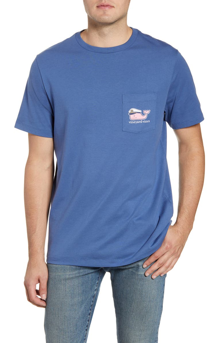 VINEYARD VINES Lobster Bake Whale Pocket T-Shirt, Main, color, 461