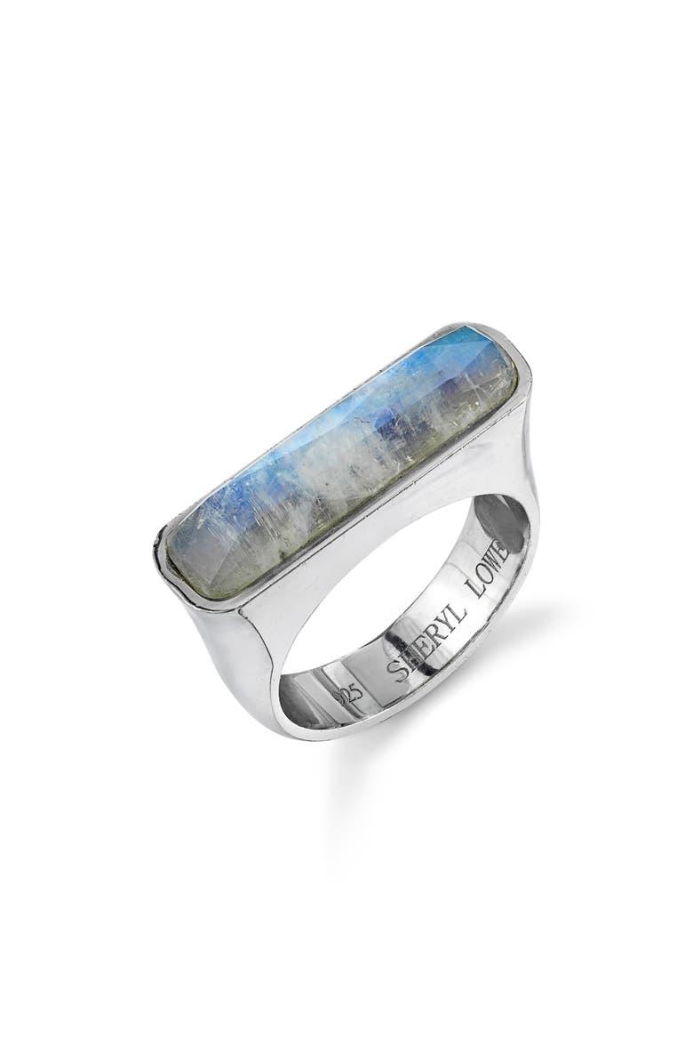 SHERYL LOWE Moonstone Bar Ring, Main, color, MOONSTONE
