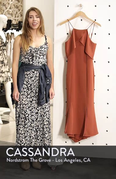 Ruffle Back Halter Midi Dress, sales video thumbnail