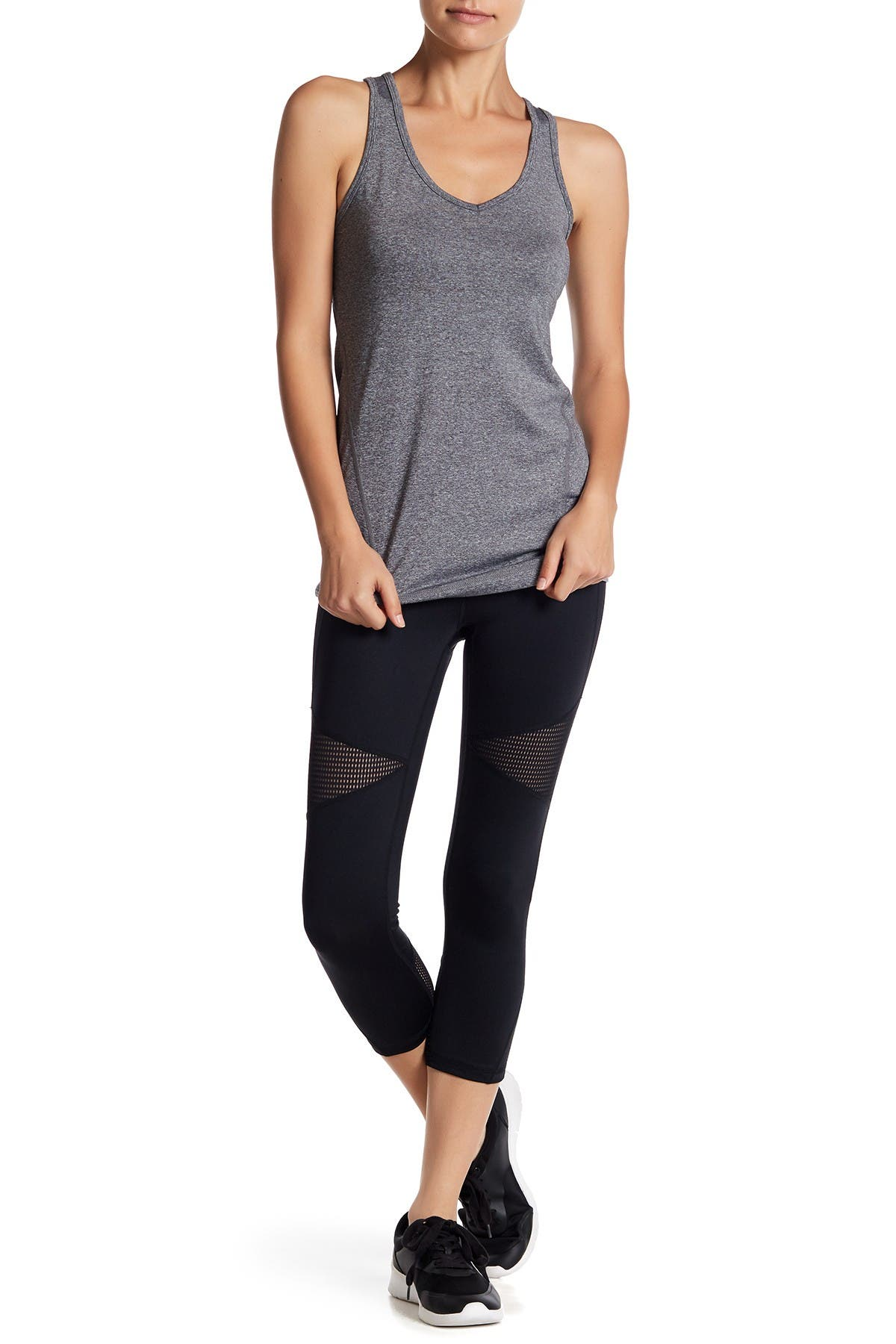 Image of Z By Zella High Waisted Blocked Crop Leggings