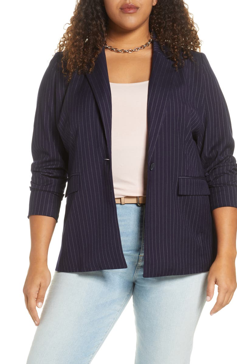 HALOGEN<SUP>®</SUP> Pinstripe Blazer, Main, color, 410