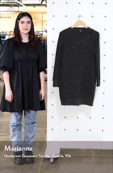 Doffy Long Sleeve Sweater Dress, sales video thumbnail