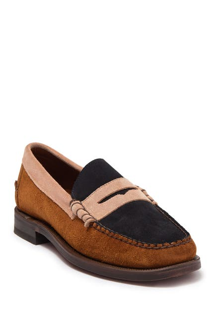 Image of Sebago Dan Suede Tri City Penny Loafer