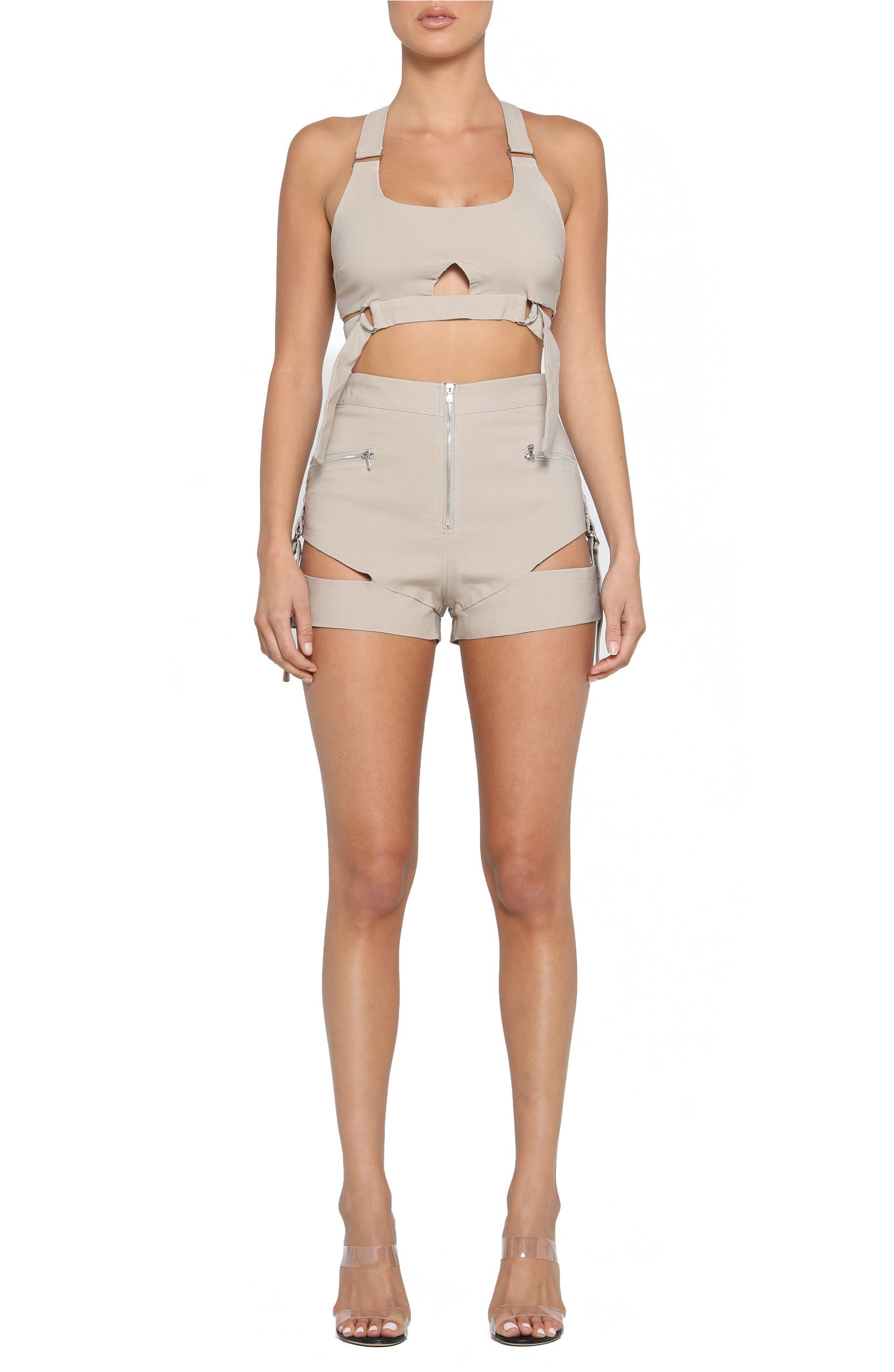 to buy competitive price wholesale sales Reed Cutout Utility Crop Top