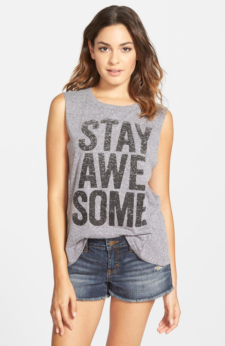BILLABONG 'Stay Awesome' Graphic Muscle Tee, Main, color, 020