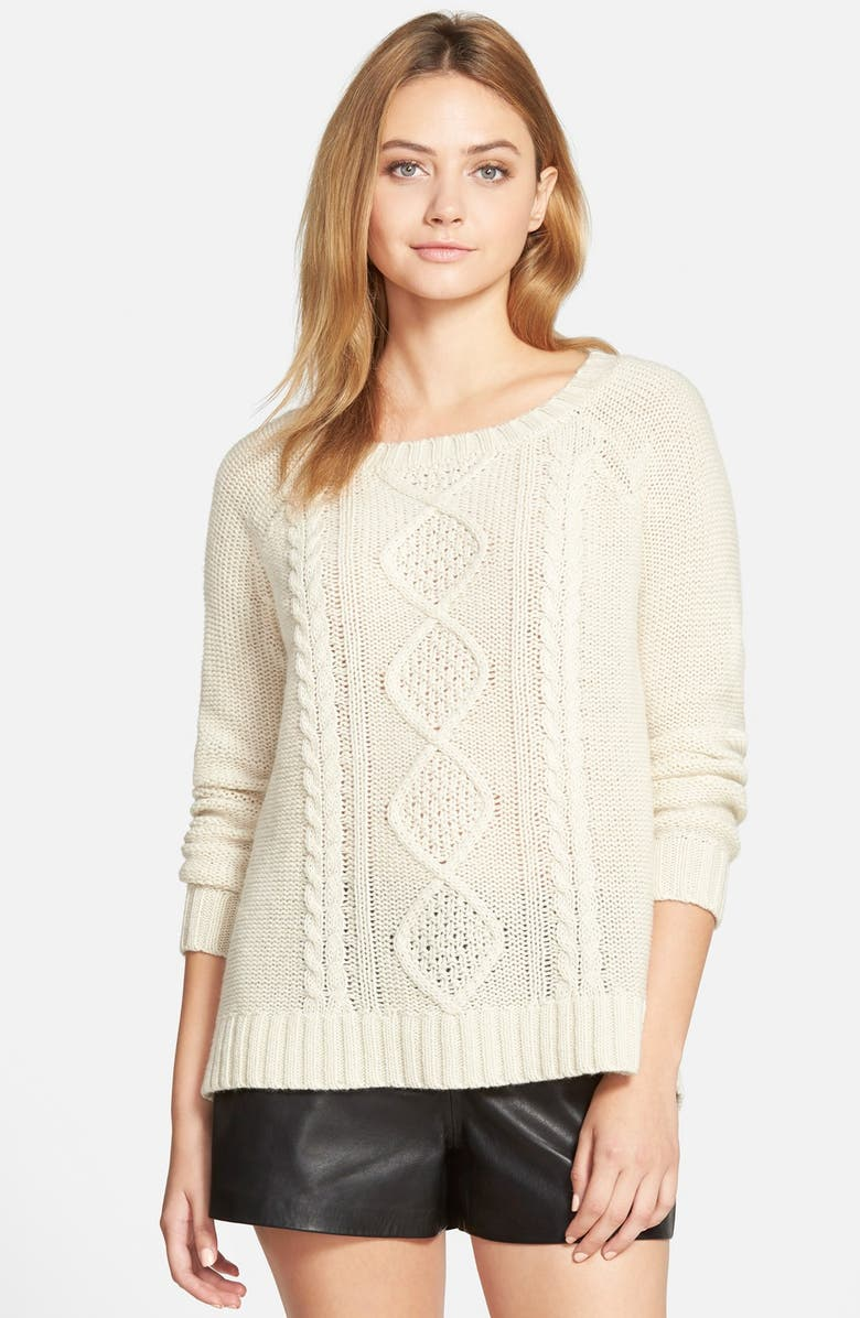CUPCAKES AND CASHMERE 'Point Reyes' Cable Sweater, Main, color, 260