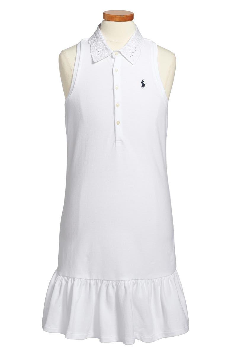 32c3cd1539 Ralph Lauren Sleeveless Cotton Mesh Polo Dress (Big Girls) | Nordstrom