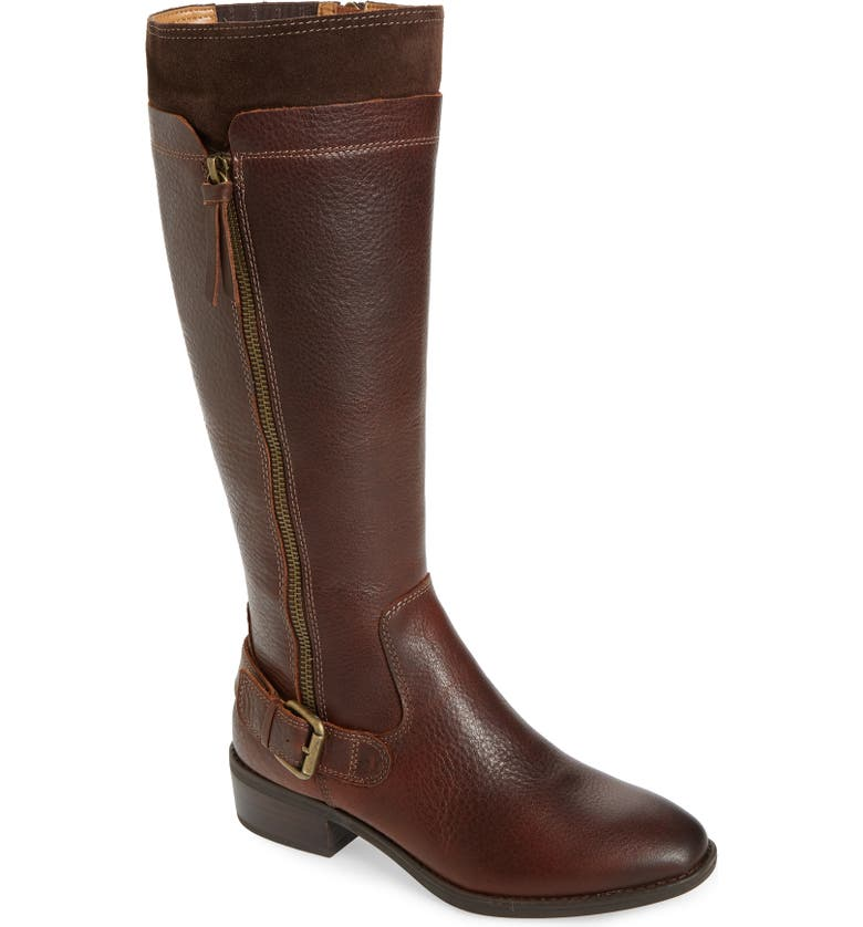 COMFORTIVA Corozal Knee High Boot, Main, color, BRIDLE BROWN LEATHER/ SUEDE