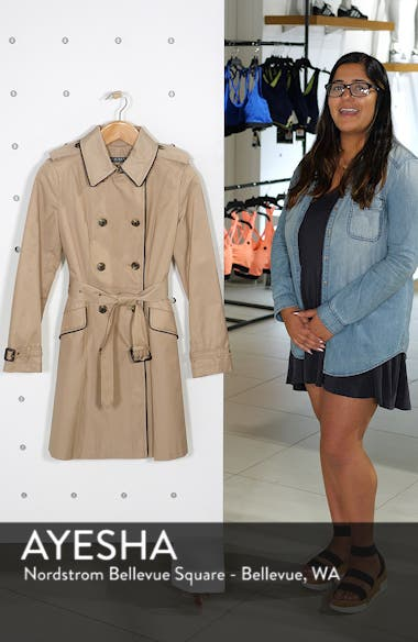 Double Breasted Short Trench Coat, sales video thumbnail