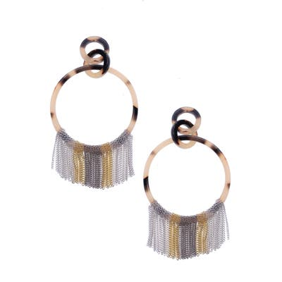Nakamol Design Fringe Hoop Earrings
