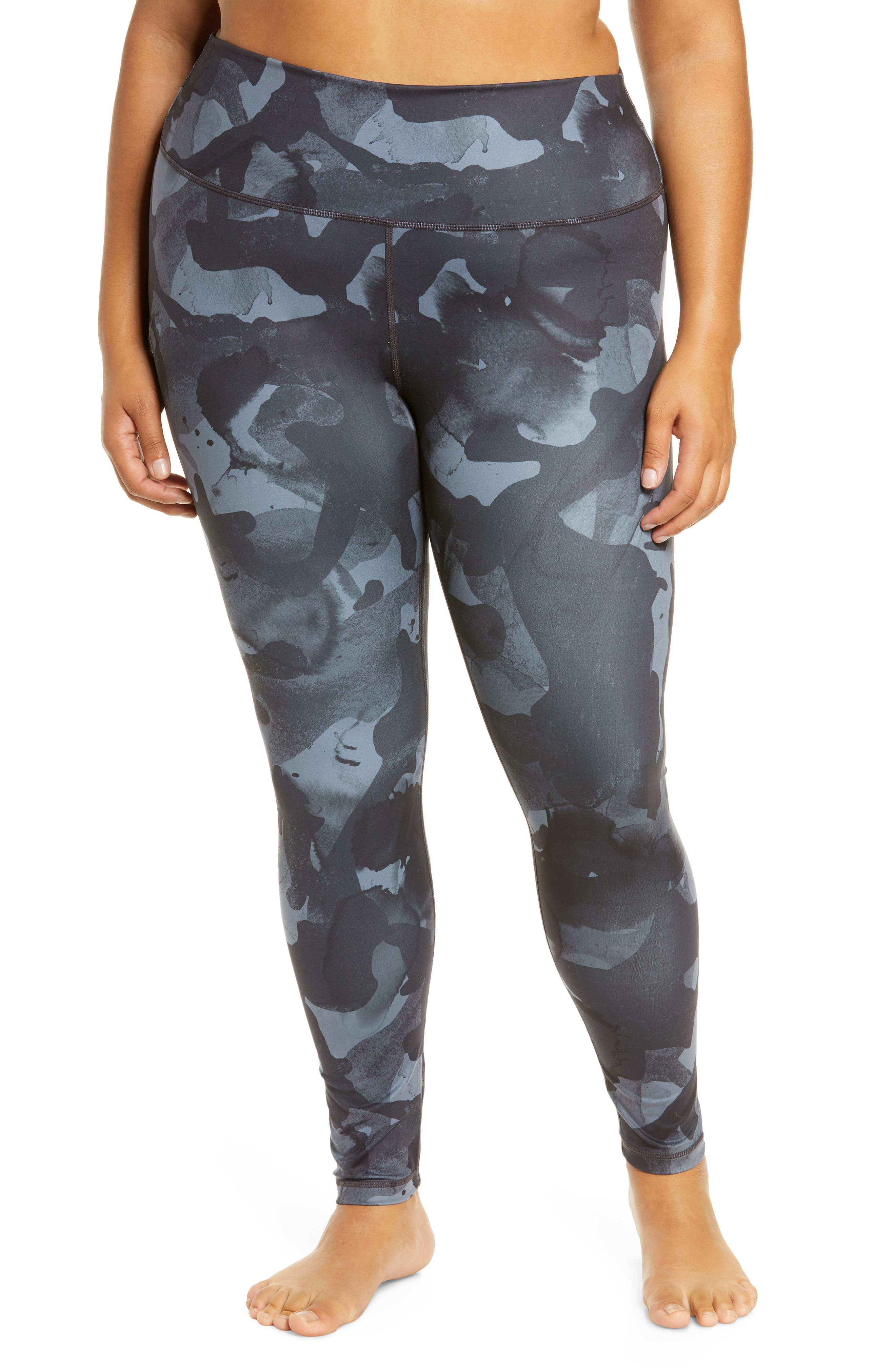 Hit your workout in graphic style in these incredibly lightweight, high-waisted leggings that will keep you comfortable while you work up a sweat. Style Name: Zella High Waist Studio Lite Ankle Leggings (Plus Size). Style Number: 6079741. Available in stores.