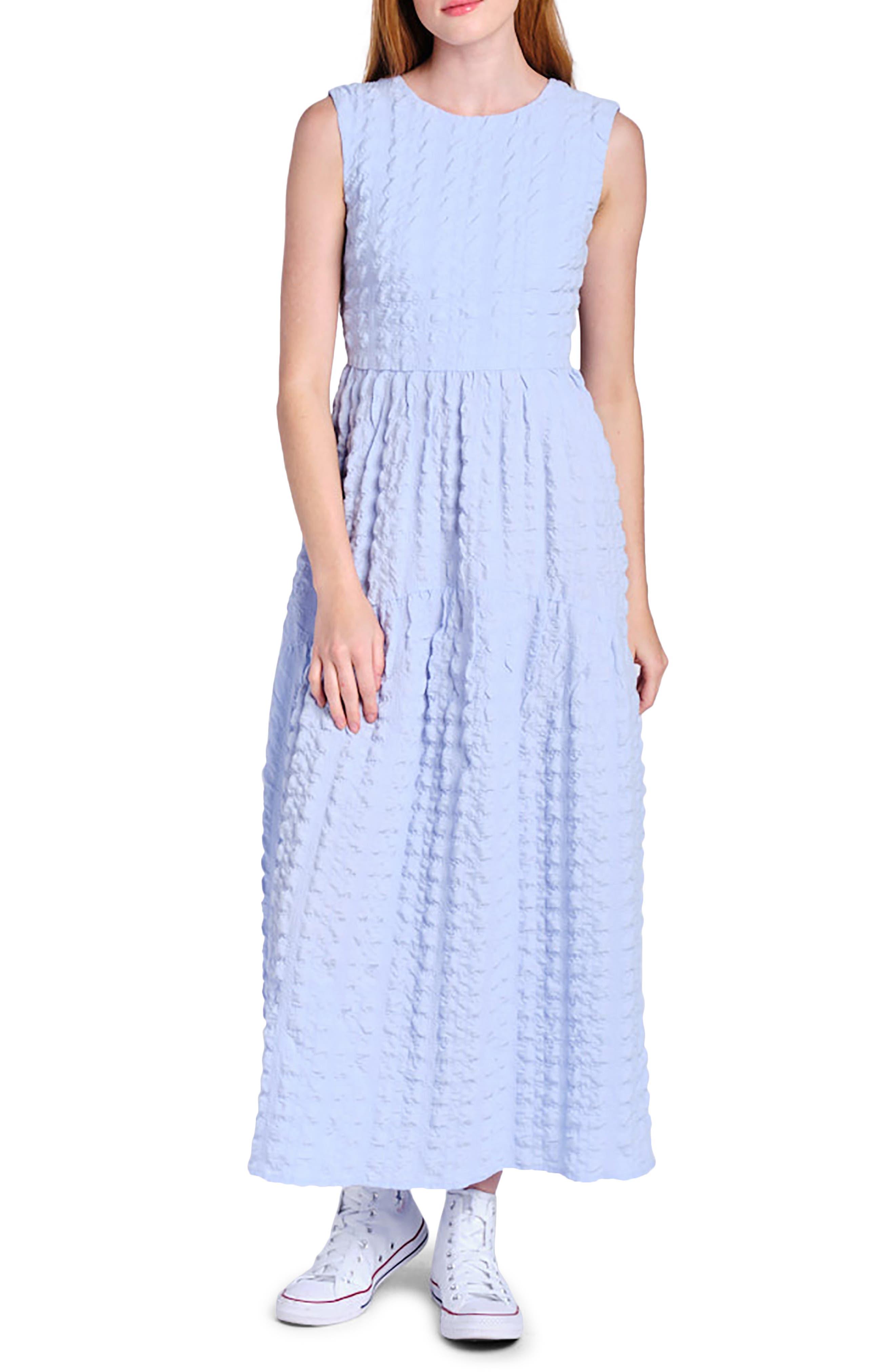 Tie Back Sleeveless Maxi Dress