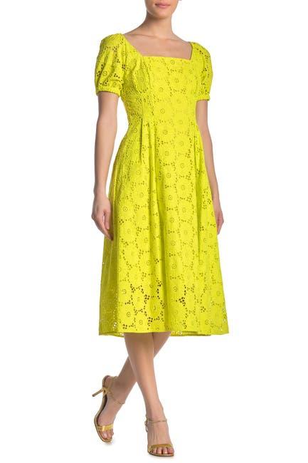 Image of Diane von Furstenberg Helena Eyelet Lace Midi Dress