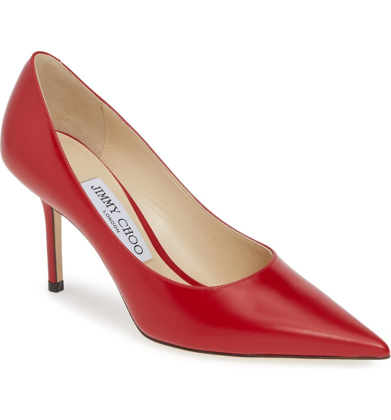 JIMMY CHOO Love Pump, Main, color, RED LEATHER