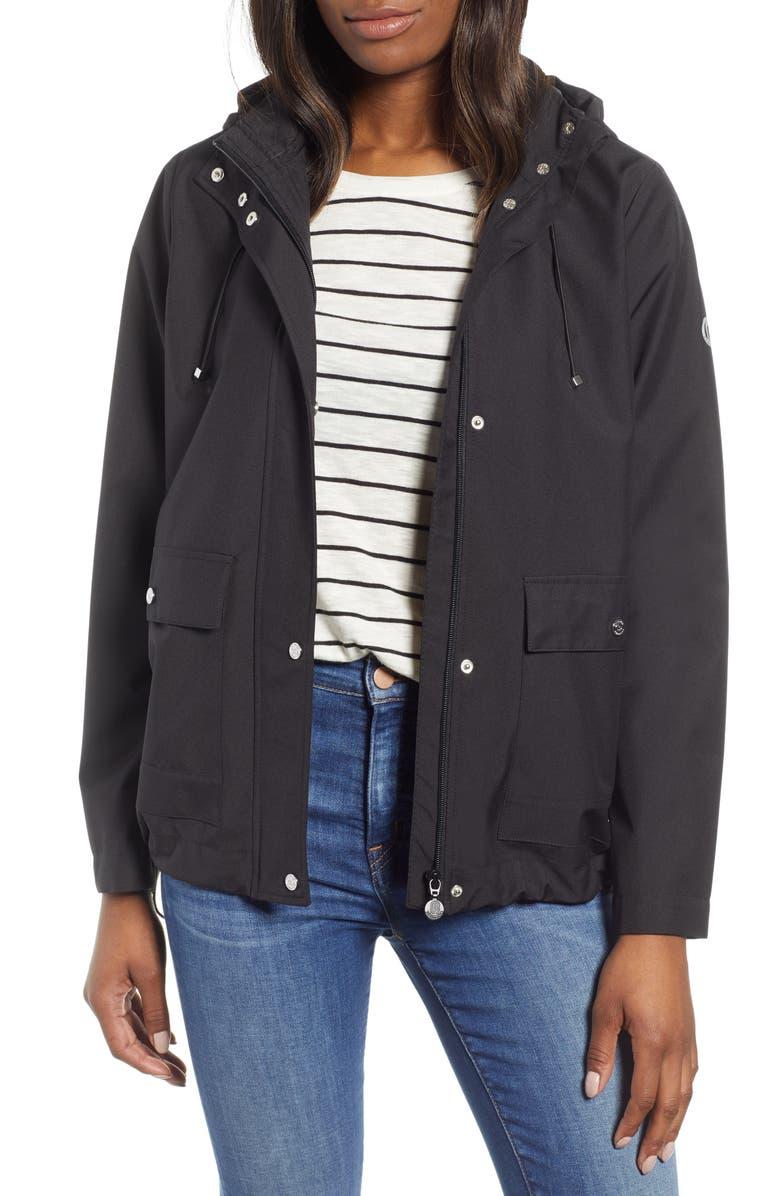 BERNARDO Microbreathable Hooded Raincoat, Main, color, 001