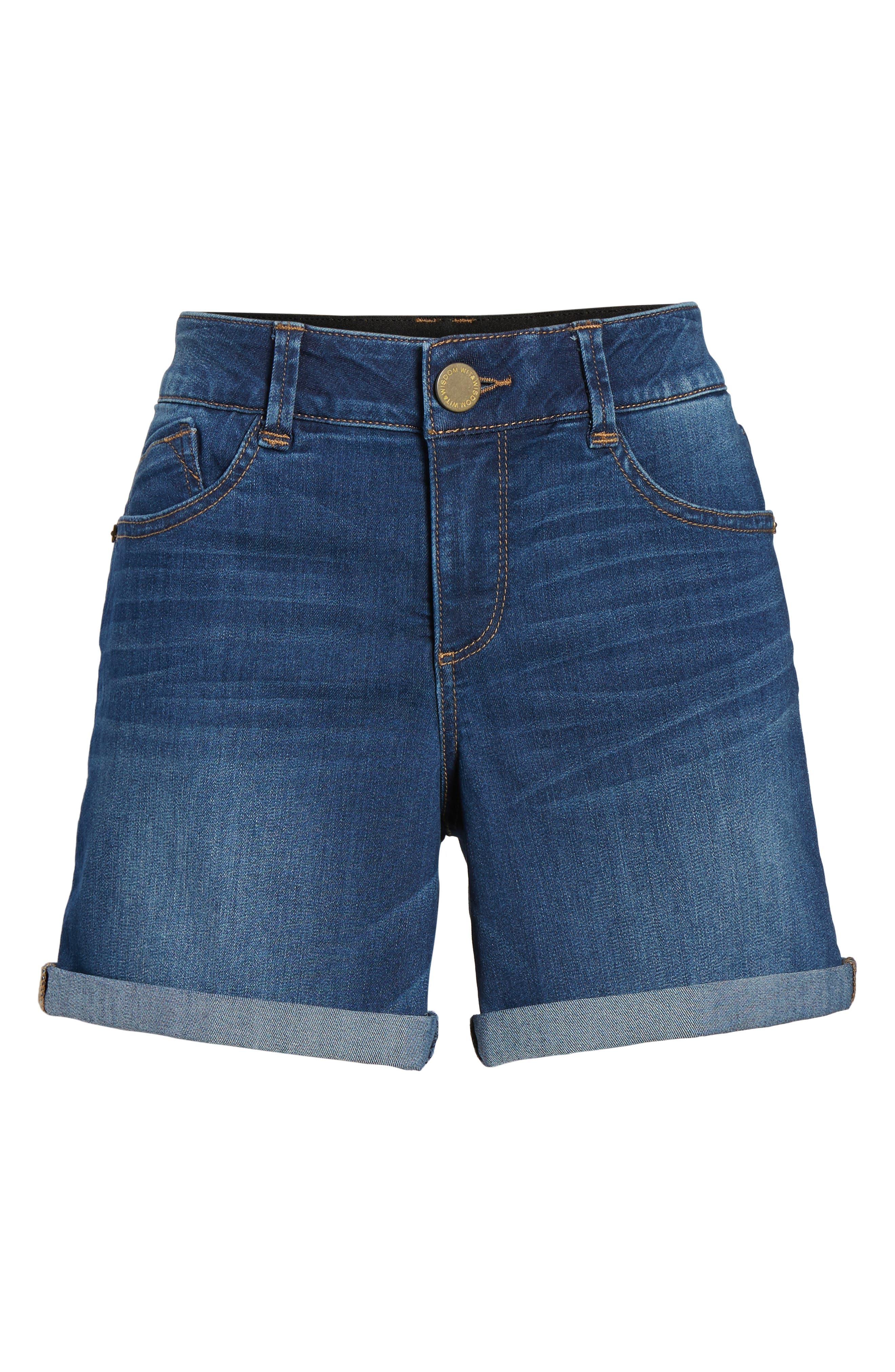 ,                             Ab-solution Cuffed Denim Shorts,                             Alternate thumbnail 7, color,                             BLUE