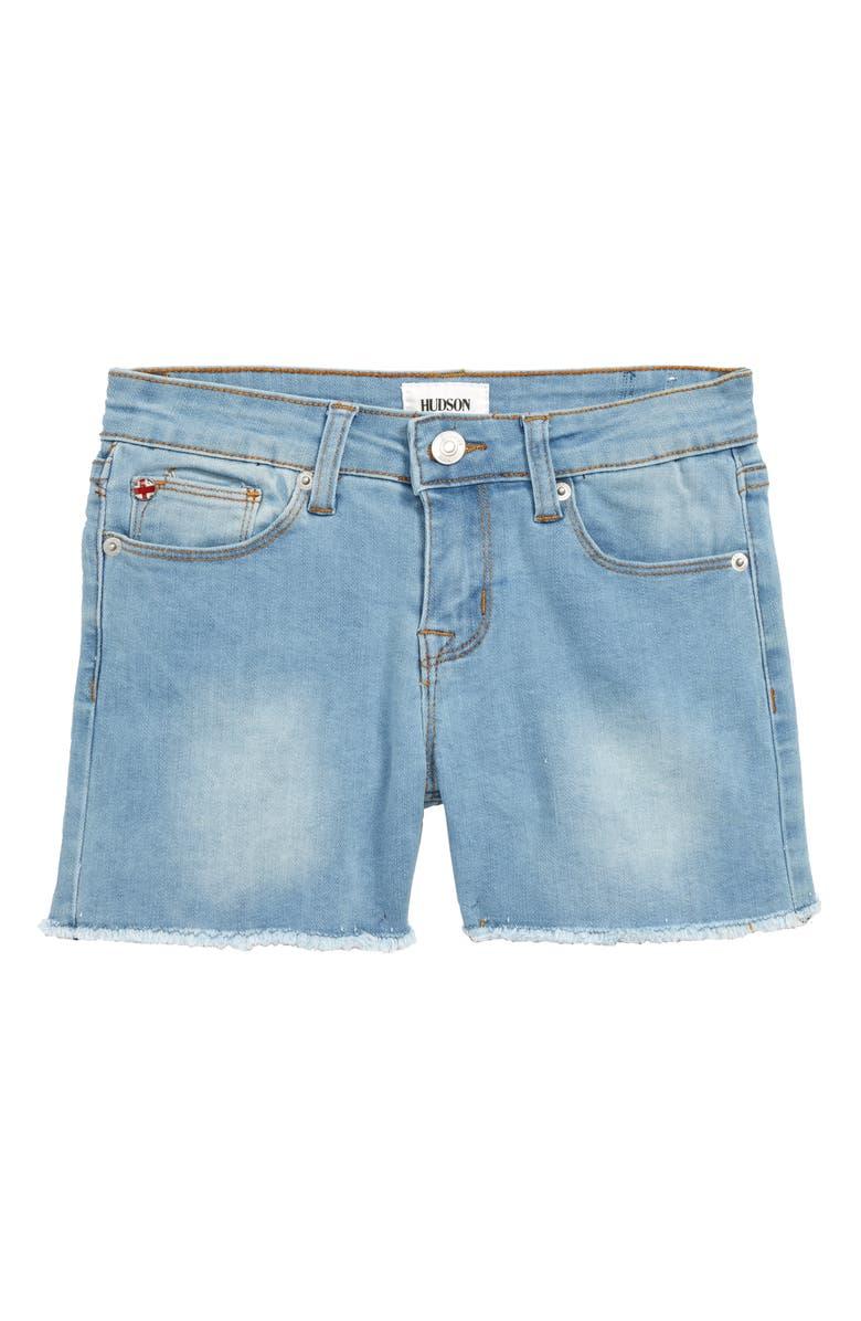 HUDSON KIDS Hudson Kid Frayed Shorts, Main, color, 400
