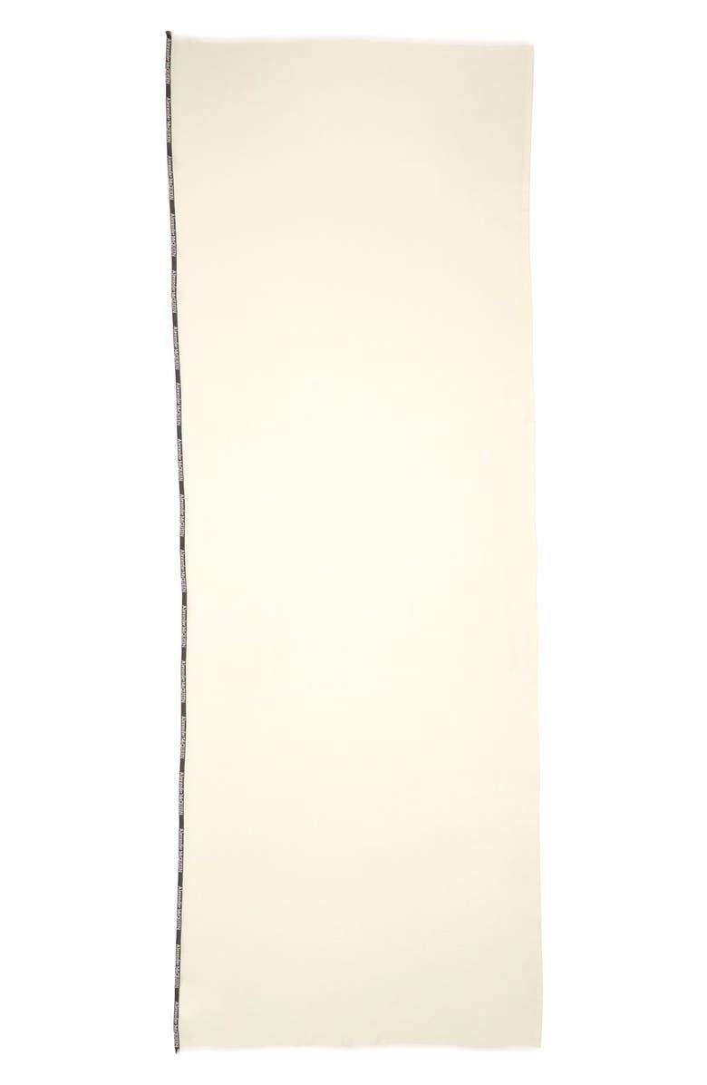 ALEXANDER MCQUEEN Selvedge Edge Cashmere & Silk Scarf, Main, color, IVORY