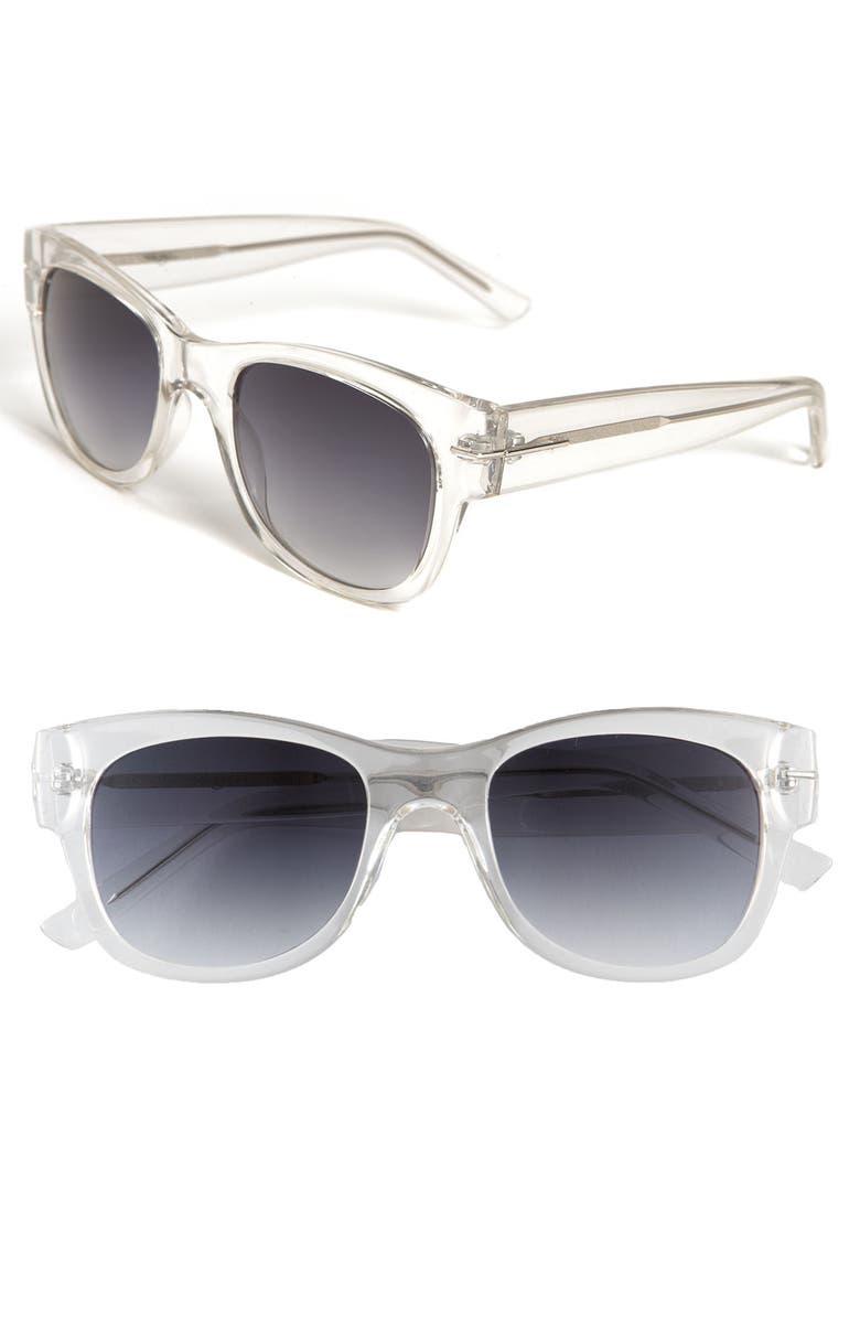 HALOGEN<SUP>®</SUP> Retro Inspired Sunglasses, Main, color, 000